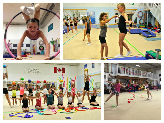 Kids gymnasts during summer camps