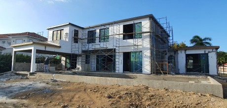 CASA FELIZ, A VISTA DEL MAR RESIDENCE - WINDOWS AND DOORS ARE IN!!!, 411157, Residential Properties