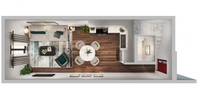 THE PALMS AT DOMINO STREET - 1 BED 1.5 BATH ON 2 FLOORS - PRE-CONSTRUCTION - Image 3