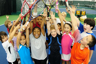 Kids Tennis games during summer camps